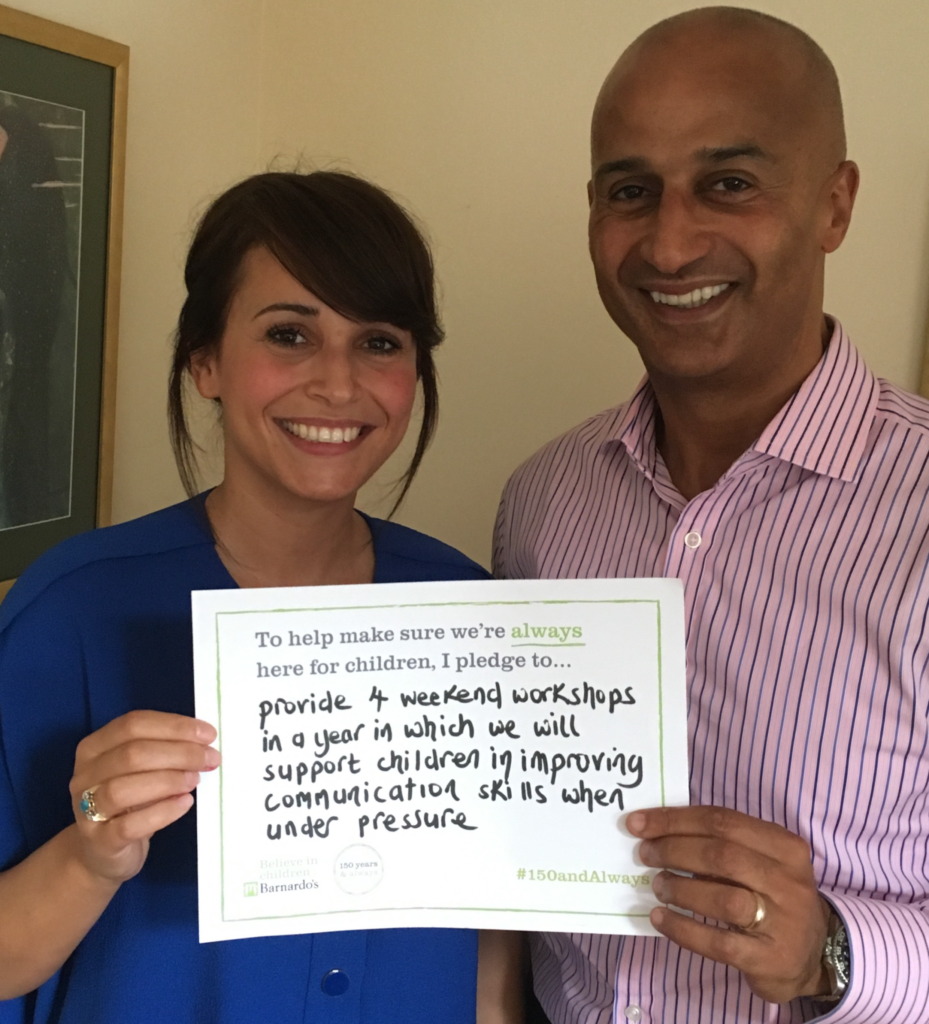 Leyla and Alistaire's Barnardos Pledge Photo