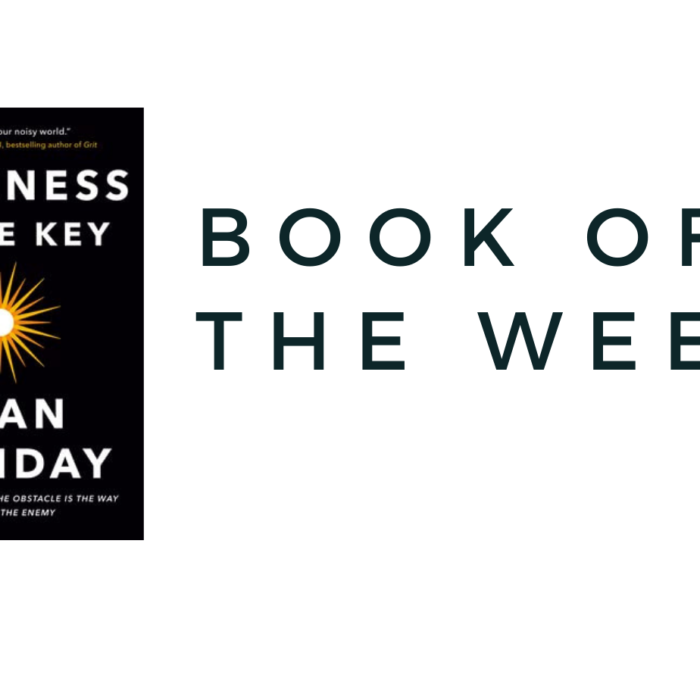 BOOK OF THE WEEK…. STILLNESS IS THE KEY