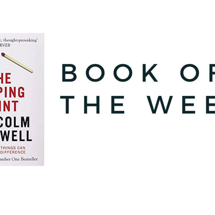 THE BOOK OF THE WEEK…. THE TIPPING POINT
