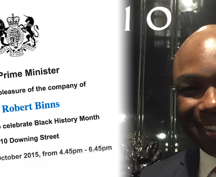 Robert Binns Visits Number 10 DOWNING STREET!