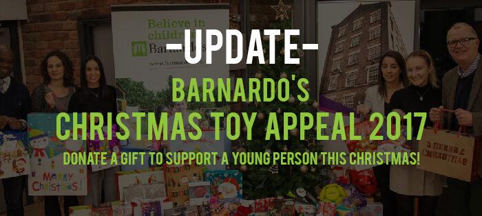 UPDATE: Barnardo's Christmas Toy Appeal