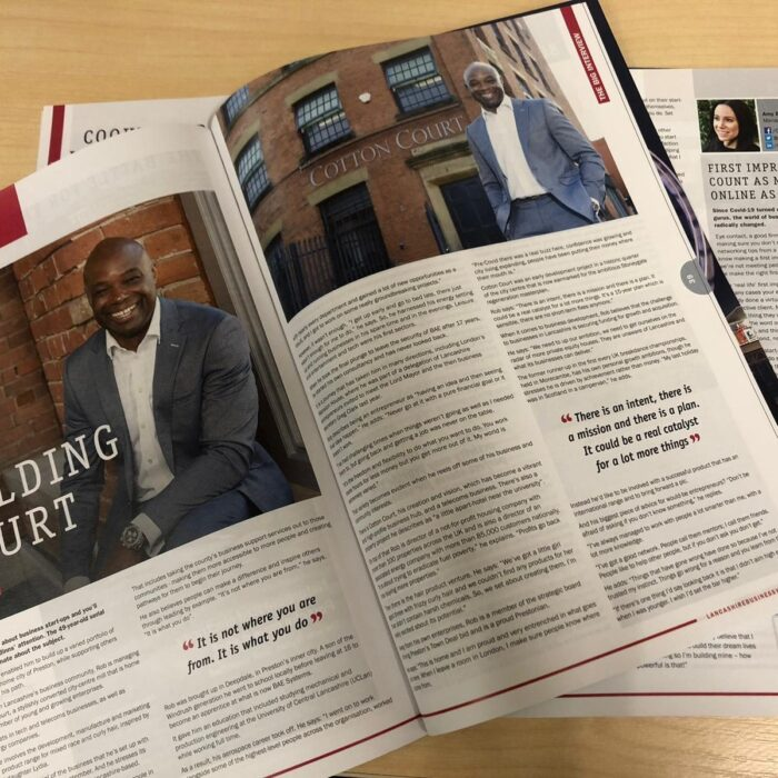 Cotton Court Features in Lancashire Business View