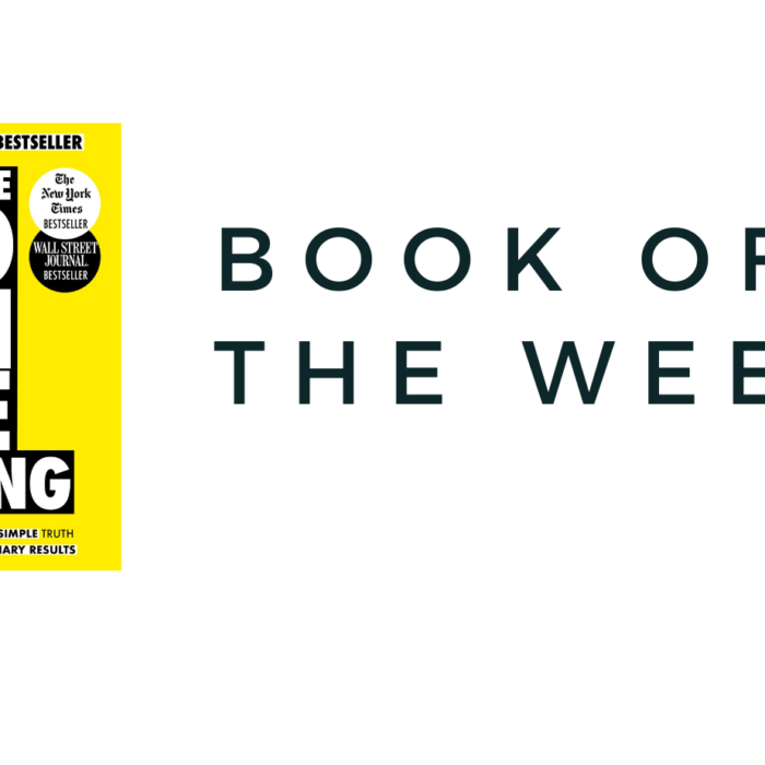 Book of the week : The One Thing